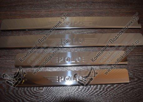 купить хромированные накладки на пороги для volkswagen polo 6