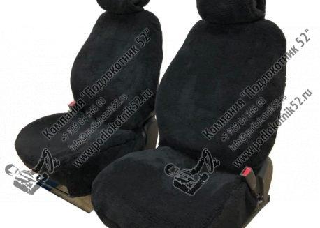 купить меховые чехлы аляска (чёрные)