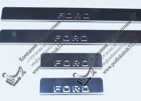 купить хромированные накладки на пороги ford ecosport