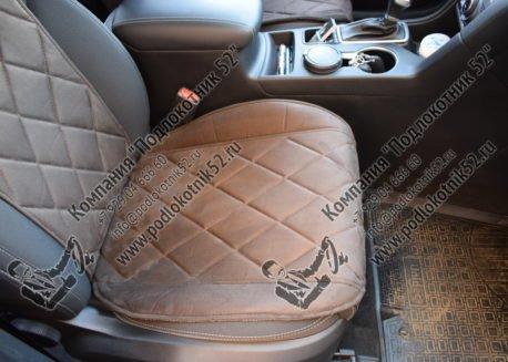купить накидки алькантара вариант №2 узкая спинка без подголовника (коричневые)