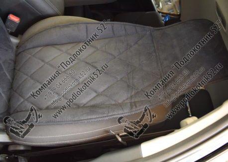 купить накидки алькантара вариант №1 широкая спинка с подголовником (чёрные)