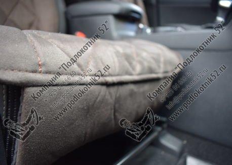 купить накидки алькантара вариант №1 широкая спинка с подголовником (коричневые)