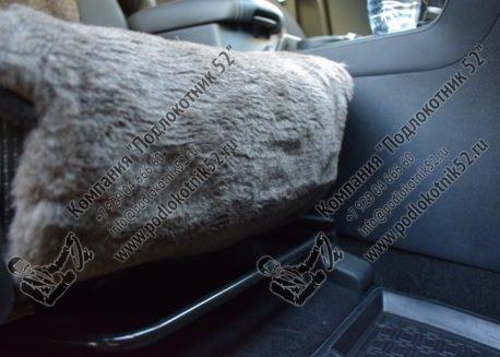 купить меховые накидки вариант №2 узкая спинка без подголовника (серо-коричневые)