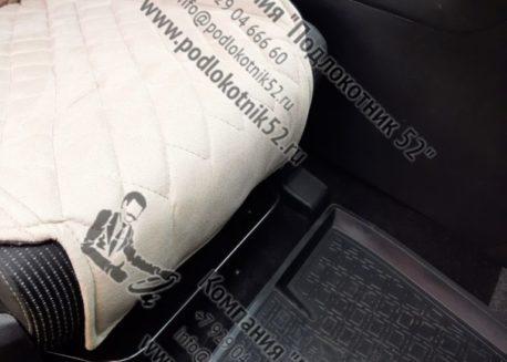 купить накидки алькантара  узкая спинка без подголовника мелкий ромб (бежево-кремовые)