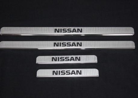купить хромированные накладки на пороги nissan x-trail t31