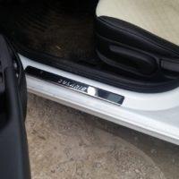 Отзыв на Хромированные накладка на задний бампер для Hyundai Solaris 2, ХРОМИРОВАННЫЕ НАКЛАДКИ НА ПОРОГИ ДЛЯ  Hyundai SOLARIS 2 NEW - Подлокотник 52