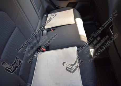 купить накидки алькантара вариант №2 узкая спинка без подголовника (бежево-кремовые)