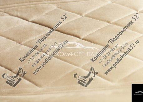 купить накидки алькантара вариант №1 широкая спинка с подголовником (бежево-кремовые)