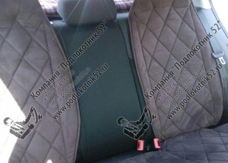купить накидки алькантара на заднее сиденье со спинкой (чёрные, серые, бежевые, коричневые.)