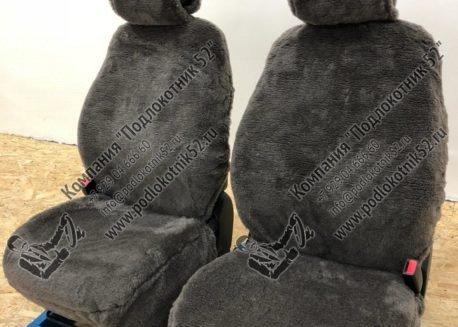 купить меховые чехлы аляска (серо-коричневые)