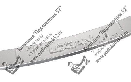 купить хромированные накладка на задний бампер для renault logan 2 new