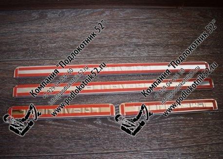 купить хромированные накладки на пороги для chevrolet lanos