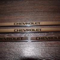 купить хромированные накладки на пороги (комплект: 4 штуки - 2 шт. передних, 2 шт. задних) chevrolet nexia  (вариант №2)