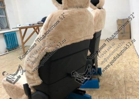 купить меховые чехлы аляска (бежевые)