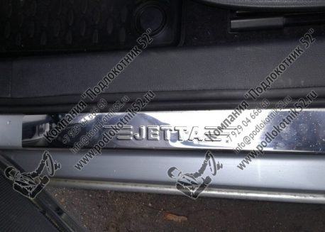 купить хромированные накладки на пороги для volkswagen jetta 6