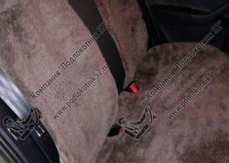 купить меховая цельная накидка на заднее сиденье со спинкой