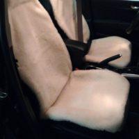Отзыв на меховые накидки вариант №1 широкая спинка с подголовником  (Бежевые) - Подлокотник 52