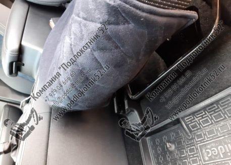 купить накидки алькантара  узкая спинка без подголовника мелкий ромб (чёрные)