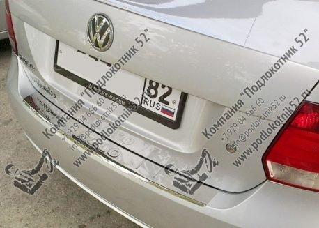 купить хромированные накладка на задний бампер для volkswagen polo sedan