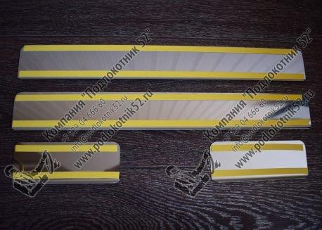 купить хромированные накладки на пороги для opel astra h