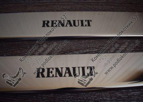купить хромированные накладки на пороги для renault logan