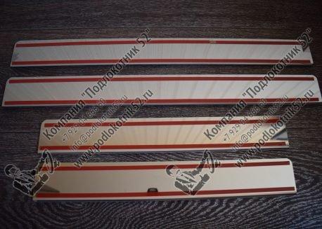 купить хромированные накладки на пороги для  skoda fabia 2