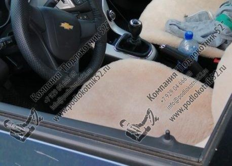 купить меховые накидки вариант №1 широкая спинка с подголовником  (бежевые)