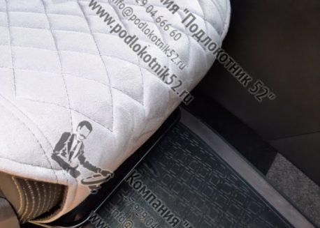 купить накидки алькантара   узкая спинка без подголовника мелкий ромб (серые)