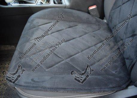 купить накидки алькантара вариант №2 узкая спинка без подголовника (чёрные)