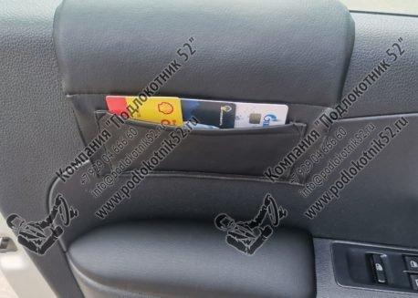 купить накладка мягкая на стекло с карманом (подходит для всех марок авто)
